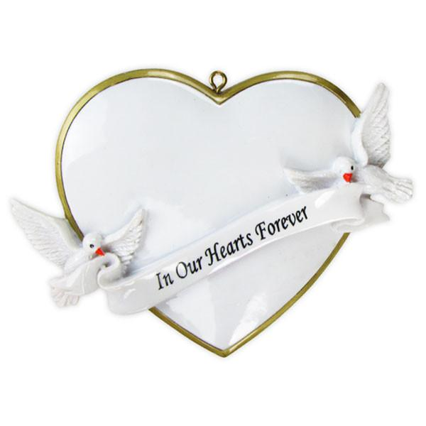 OR782 - In Our Hearts Christmas Forever Personalised Christmas Decoration