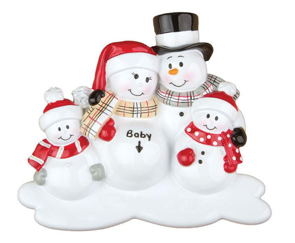 OR807-2 - We're Expecting w/2 Children Personalised Christmas Decoration