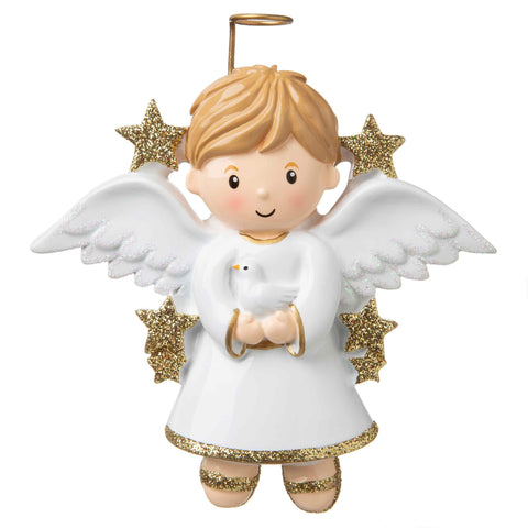 OR907-B - Angel (Boy) Personalised Christmas Decoration