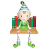 OR929 - Elf On Books Personalised Christmas Decorations