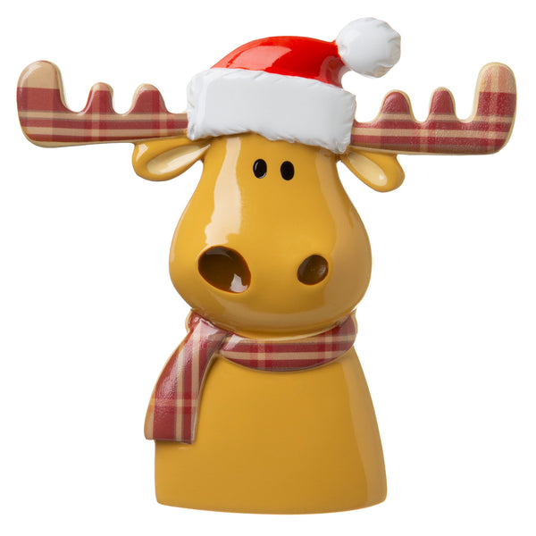 P18-03-011 - Reindeer with Plaid Antlers and Hat Personalised Christmas Decoration