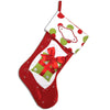 PBS105 RG - Red and Green Personalised Christmas Stocking