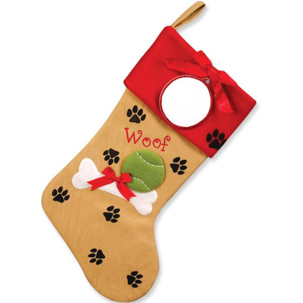 PBS133 DP - Doggie Paws Personalised Christmas Stocking