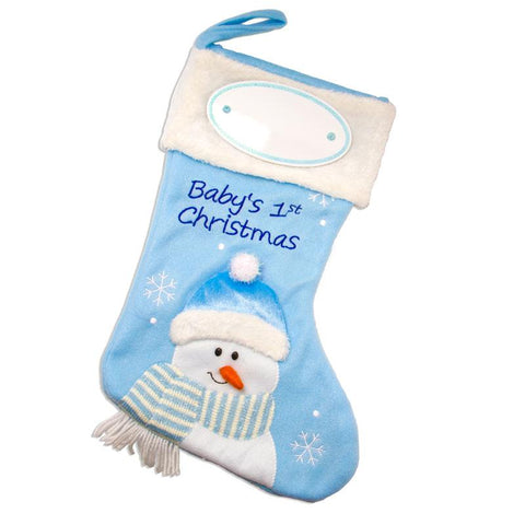 PBS143 BB - Baby Boy Personalised Christmas Stocking