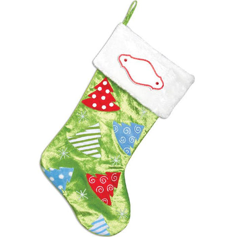 PBS145 XT - Christmas Tree Personalised Christmas Stocking