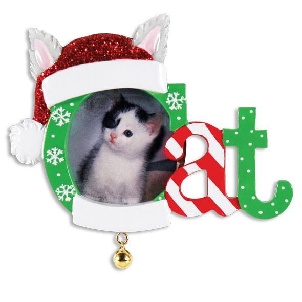 PF1423 - Christmas Cat Frame Personalised Christmas Decoration