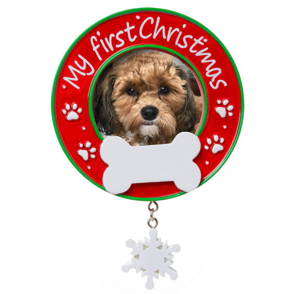 PF1717 - My First Christmas (Dog) Picture Frame Personalised Christmas Decoration