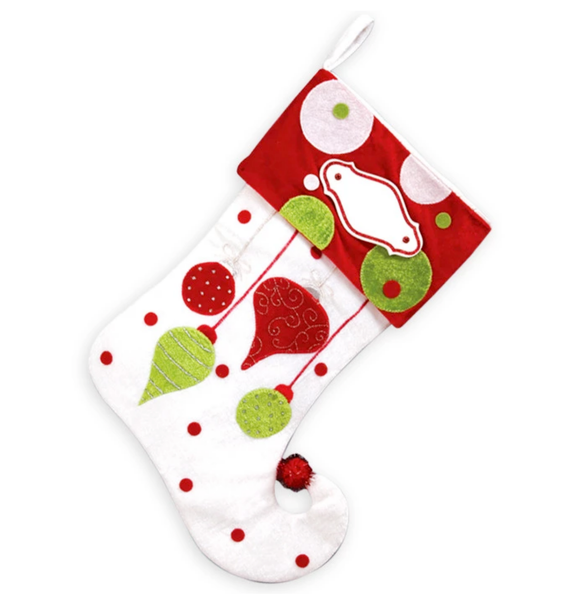 PBS127 HO - Hanging Ornaments Personalised Christmas Stocking