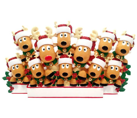 TT1527-11 - New Reindeer (family of 11) Table Topper