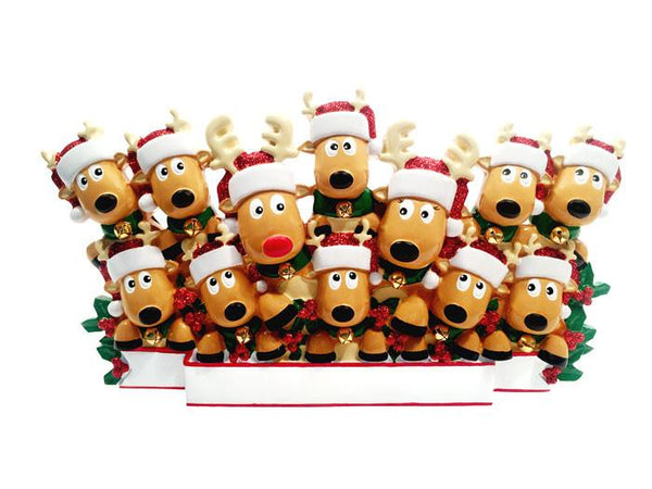 TT1527-12 - New Reindeer (family of 12) Table Topper