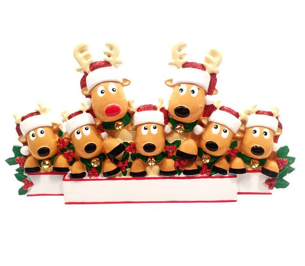 TT1527-7 - New Reindeer (family of 7) Table Topper