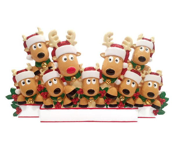 TT1527-9 - New Reindeer (family of 9) Table Topper