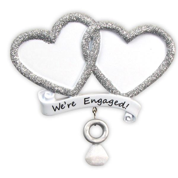OR822 - We're Engaged! Personalised Christmas Decoration