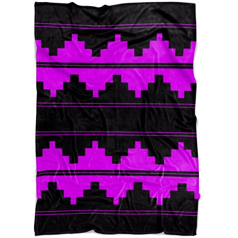 CUSTOM NAVAJO FLEECE PURPLE