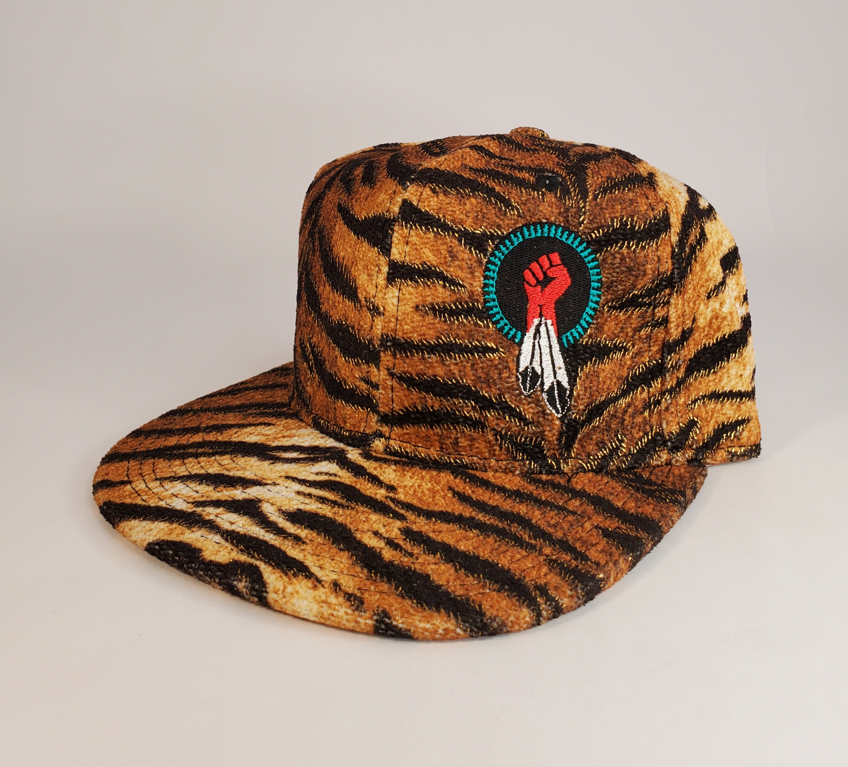 N8V MOVEMENT cap embroidered tiger snapback