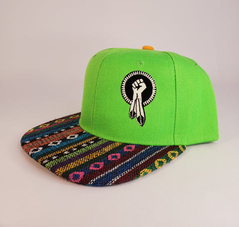 N8V MOVEMENT cap embroidered glow in the dark lime g snapback