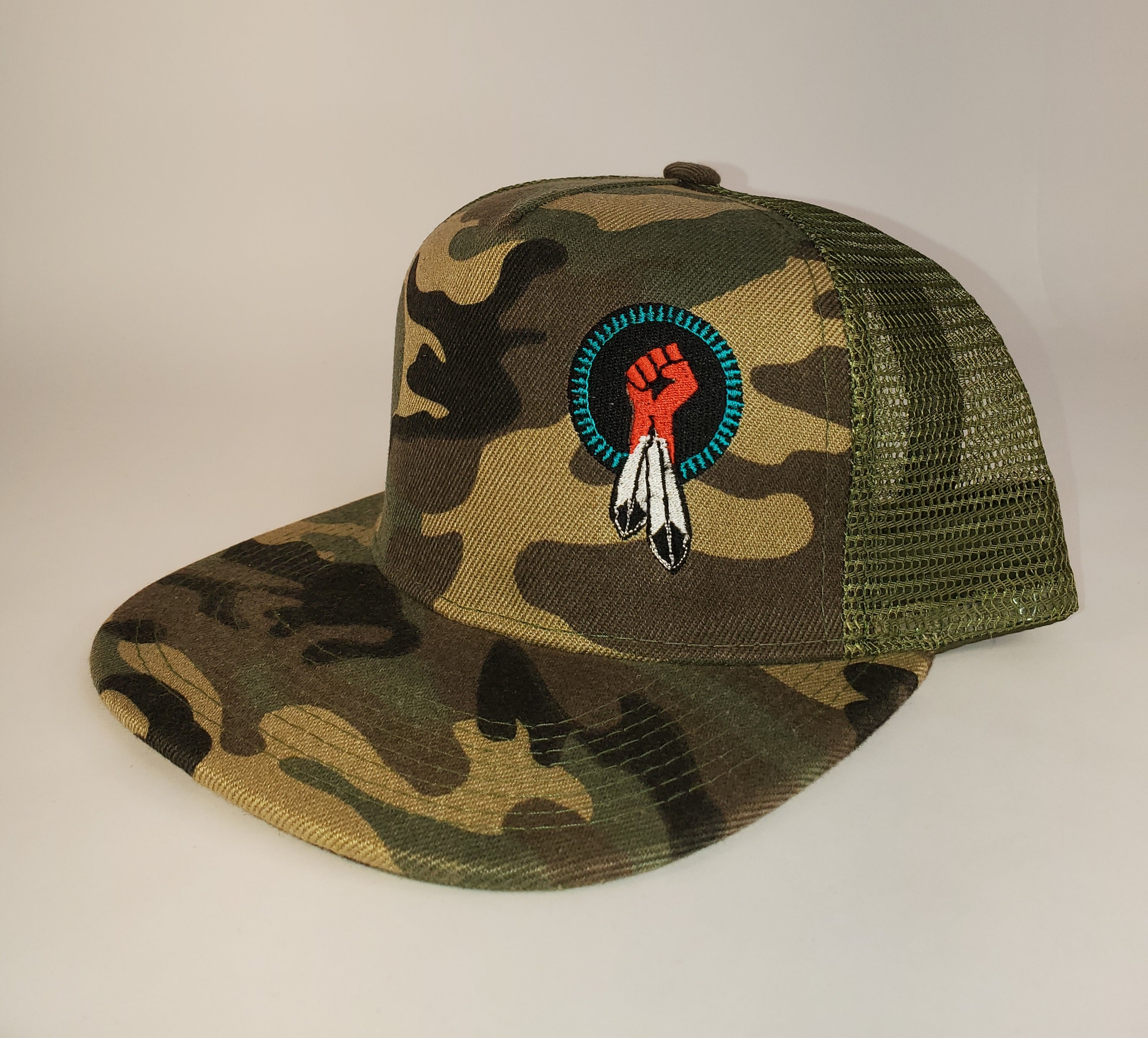 N8V MOVEMENT cap embroidered camo snapback