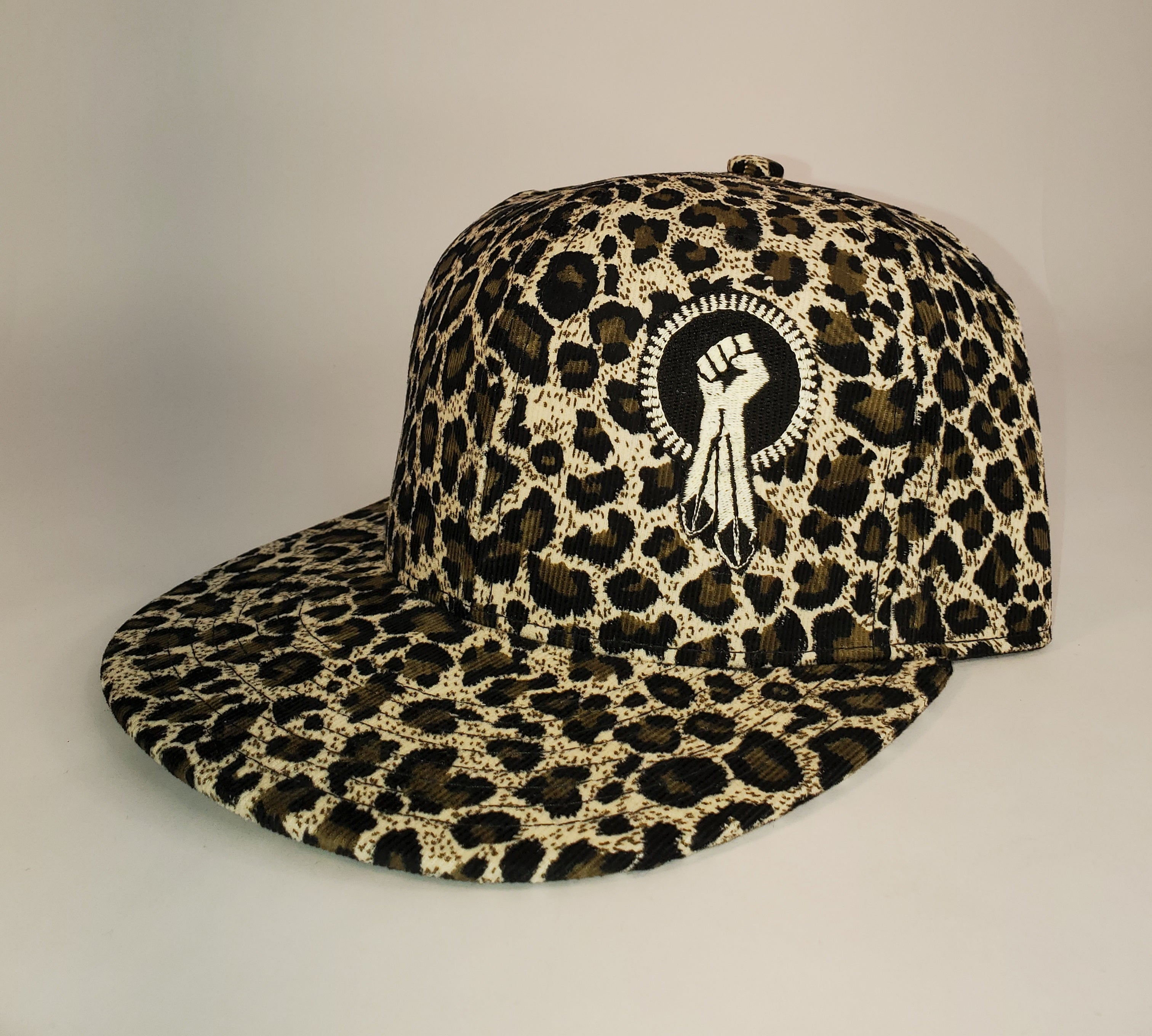 N8V MOVEMENT cap embroidered glow in the dark leopard snapback