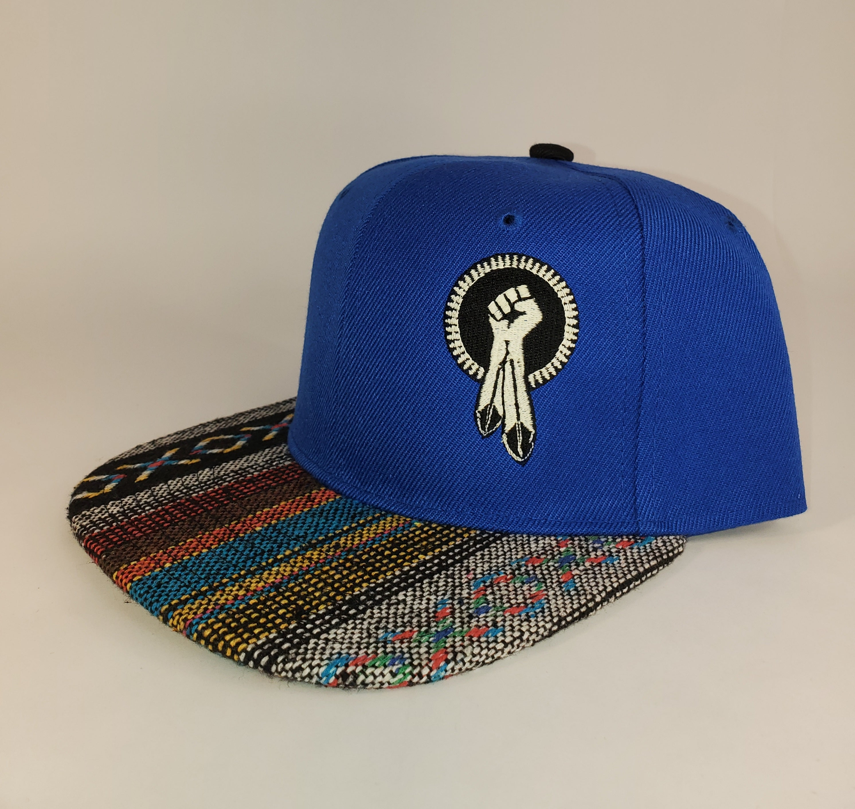 N8V MOVEMENT cap embroidered glow in the dark blue snapback