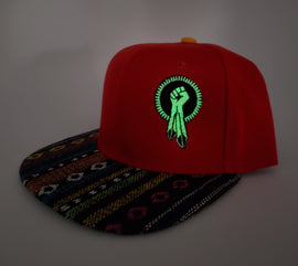 N8V MOVEMENT cap embroidered glow in the dark red1 N8V snapback
