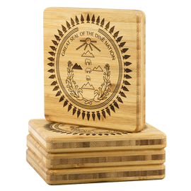 Great Seal of the Diné Nation Bamboo Coaster Set