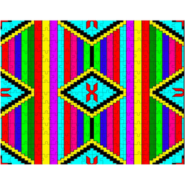 Navajo Chief Blanket Family Design Puzzle