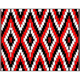 Red Black White Navajo Rug Puzzle