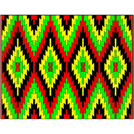 Southwest Navajo RGBY Rug Puzzle