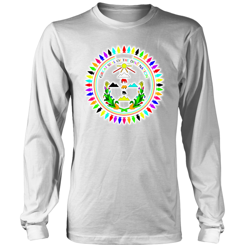 Diné Nation Seal Many Colors Long Sleeve Shirt