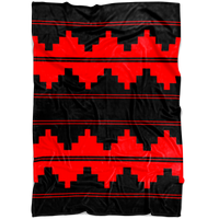 CUSTOM NAVAJO FLEECE RED