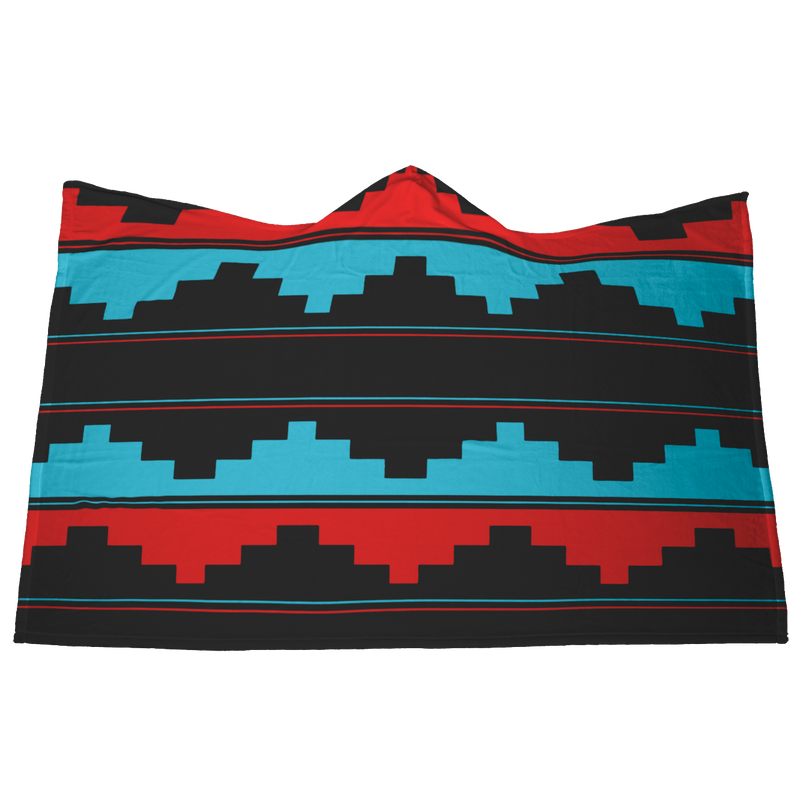 Hooded Blanket Navajo Design 1