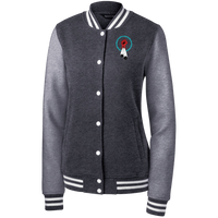 N8V MOVEMENT Women's Fleece Letterman Jacket