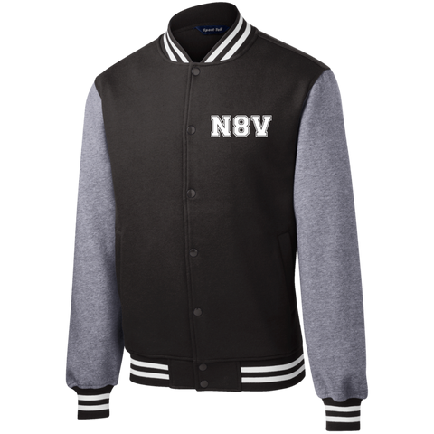 N8V Men's Fleece Letterman Jacket