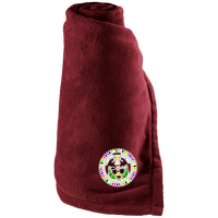 Diné Nation Colorful Seal Large Fleece Blanket