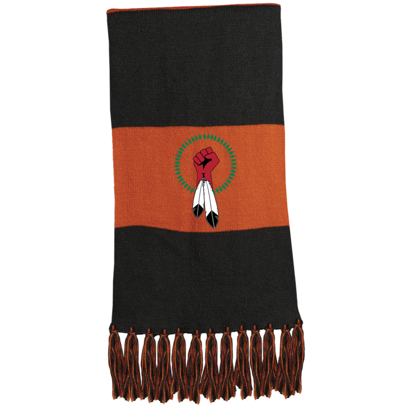 N8V MOVEMENT Fringed Scarf