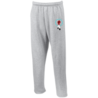 N8V MOVEMENT Open Bottom Sweatpants with Pockets