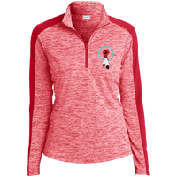 N8V MOVEMENT Women's Electric Heather Colorblock 1/4-Zip Pullover