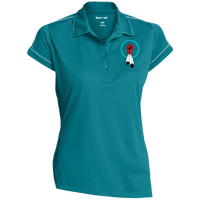 N8V MOVEMENT Women's Contrast Stitch Performance Polo