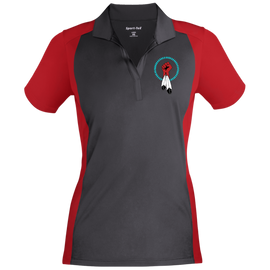 N8V MOVEMENT Women's Colorblock Sport-Wick Polo