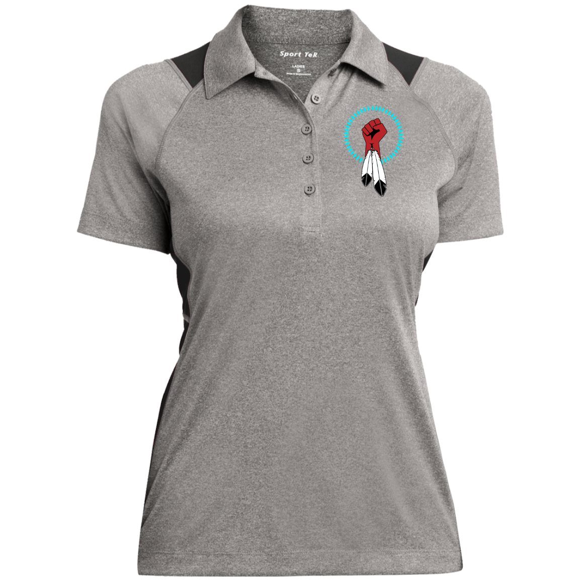 N8V MOVEMENT Women's Heather Moisture Wicking Polo