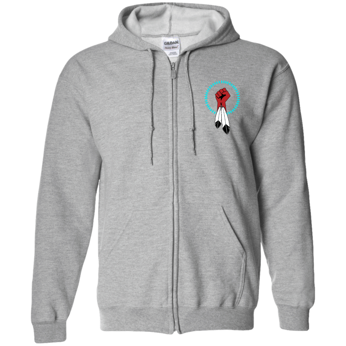 N8V MOVEMENT Zip Up Hooded Sweatshirt
