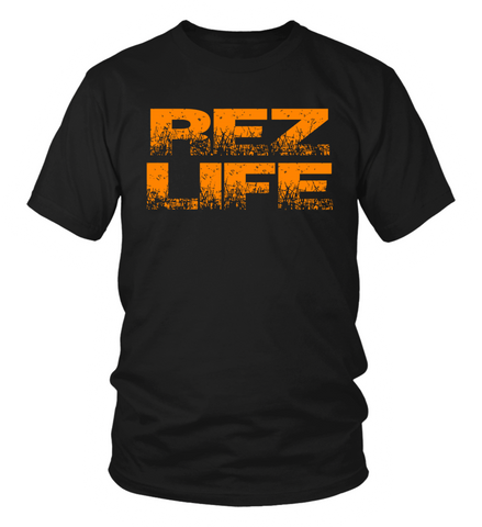 Rez Life Orange T-Shirt