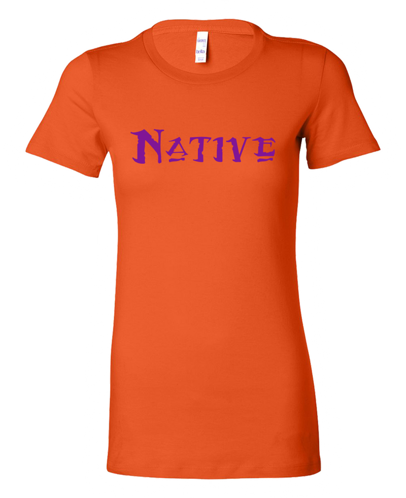 Native Purple on Orange Women's Bella Shirt