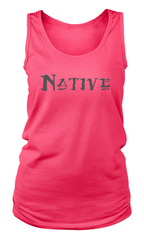 Native Gray on Pink Women's Tank