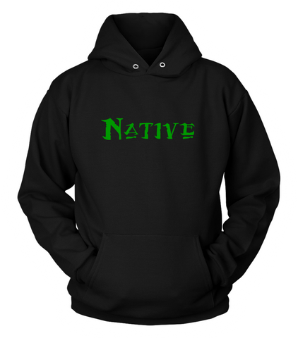 Native Black and Green Hoodie