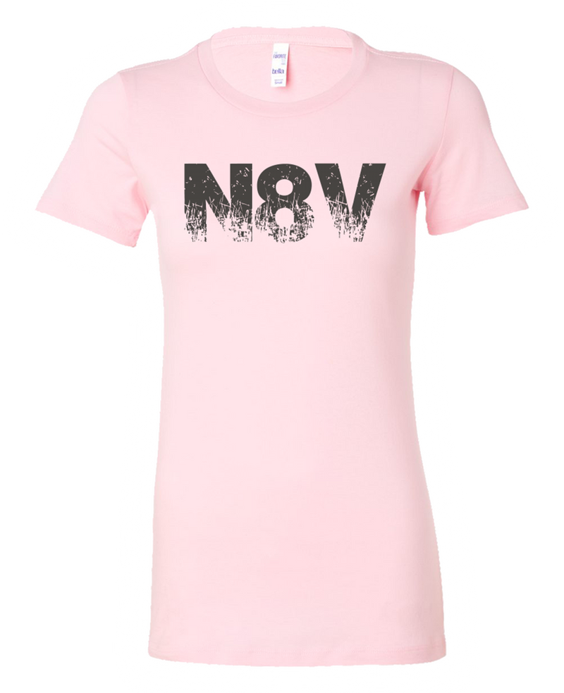 N8V Gray on Pink Women's Bella Shirt