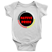 NATIVE PRIDE BABY ONESIE