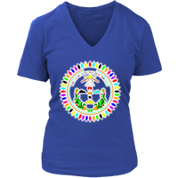WOMENS Diné Nation Seal Many Colors V-Neck shirt