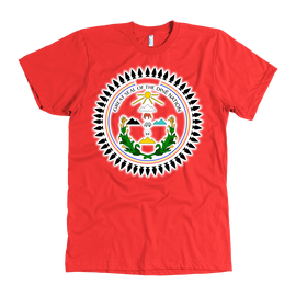 Diné Nation Seal on high quality AMERICAN APPAREL shirts