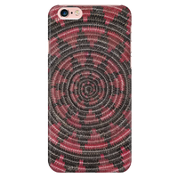 Red at Black Native Basket Phone Cover